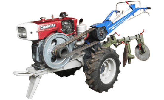 Walking Tractor with Disc Plough